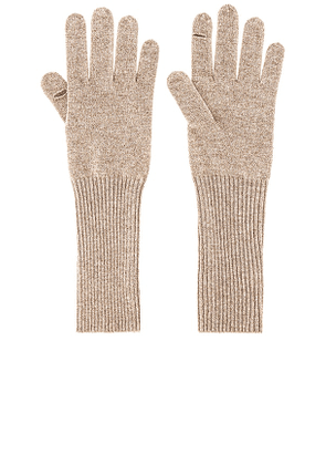 White + Warren Cashmere Long Texting Glove in Taupe.