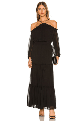 1. STATE Off the Shoulder Dress in Black. Size XS, S.