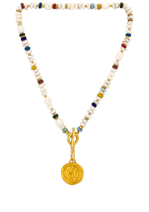 Lizzie Fortunato Petra Coin Necklace in Metallic Gold.
