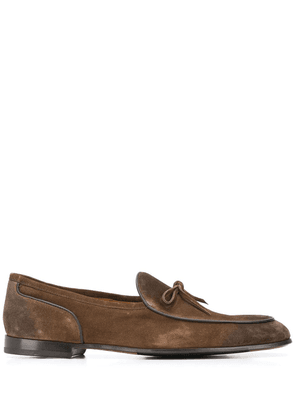 Doucal's lace-up detail loafers - Brown