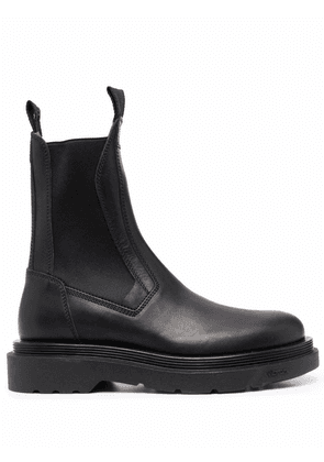 Buttero elasticated-panels leather boots - Black