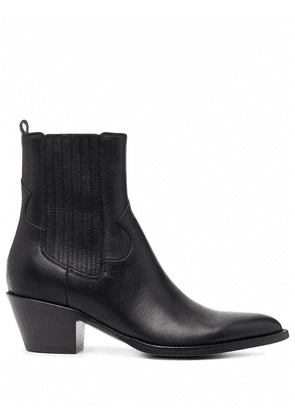 Buttero ankle leather boots - Black