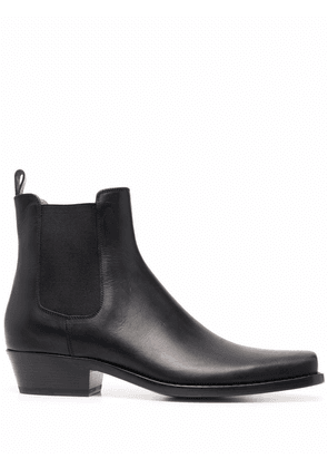 Buttero elasticated-panels ankle boots - Black