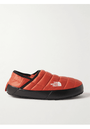 The North Face - ThermoBall Fleece-Lined Quilted Recycled Ripstop Mules - Men - Orange - US 9
