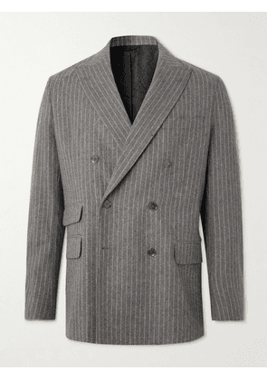 Acne Studios - Oversized Double-Breasted Pinstriped Wool-Blend Suit Jacket - Men - Gray - IT 44