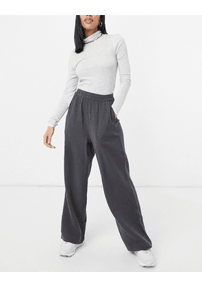 ASOS DESIGN cheesecloth pull on jogger in charcoal-Navy