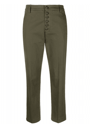 DONDUP cropped chino trousers - Green