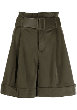 Federica Tosi belted high-waisted shorts - Green