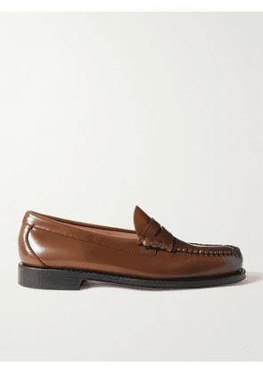 G.H. Bass & Co. - Weejun Heritage Larson Moc Leather Loafers - Men - Brown - UK 6