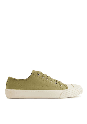 Cotton Twill Trainers - Yellow