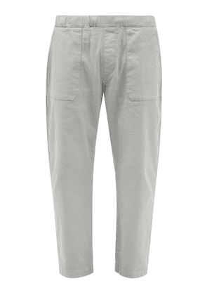 Albam - Kennedy Patch-pocket Cotton-blend Twill Trousers - Mens - Grey