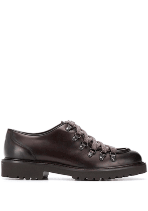 Doucal's almond toe lace-up shoes - Brown
