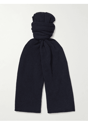 Anderson & Sheppard - Ribbed Cashmere Scarf - Men - Blue