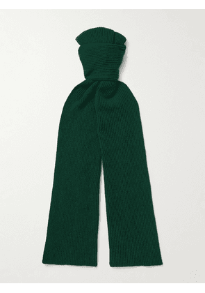Anderson & Sheppard - Ribbed Cashmere Scarf - Men - Green