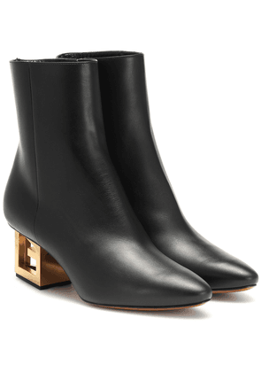 G leather ankle boots