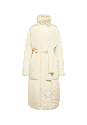 Cotton and silk padded coat