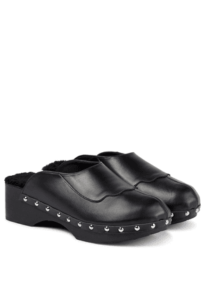 x Zeus + Dione leather Metsovo clogs