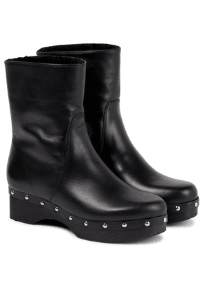 x Zeus + Dione leather ankle boots