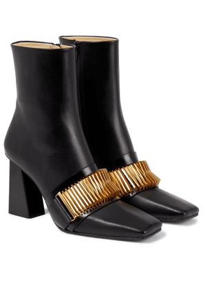 Quad Coil leather ankle boots