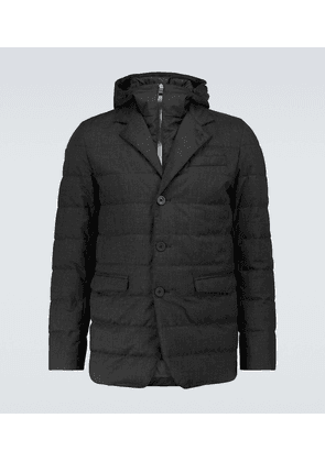 Technical flannel Laminar padded jacket
