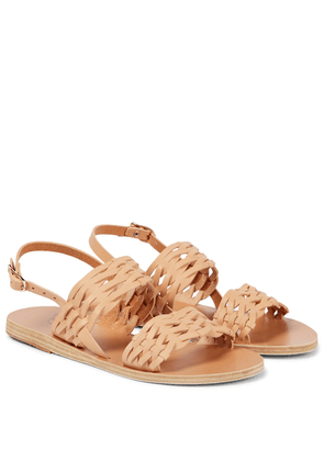 Dinami woven leather sandals