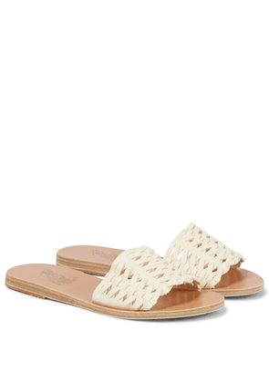 Taygete woven leather slides