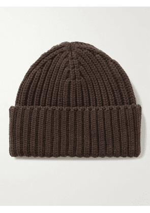 The Row - Dibbo Ribbed Cashmere Beanie - Men - Brown - M