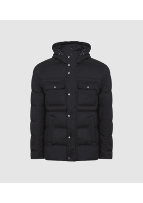 Reiss Tessil - Hooded Puffer Jacket in Navy, Mens, Size XS