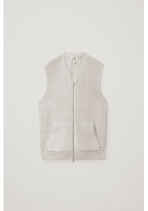 KNITTED ZIP-UP VEST
