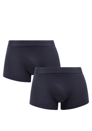 Sunspel - Pack Of Two Cotton-blend Boxer Briefs - Mens - Navy