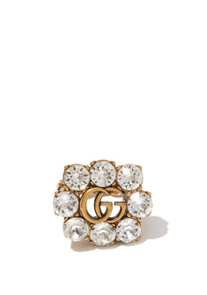 Gucci - GG Crystal-embellished Ring - Womens - Crystal