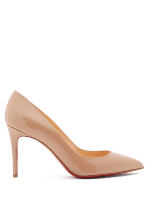 Christian Louboutin - Pigalle 85 Patent-leather Pumps - Womens - Nude