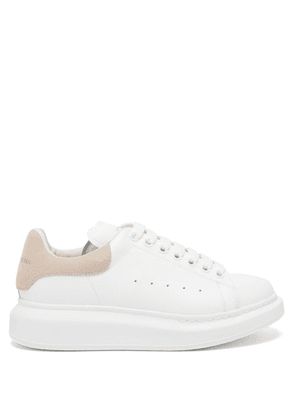 Alexander Mcqueen - Oversized Raised-sole Leather Trainers - Womens - Pink White