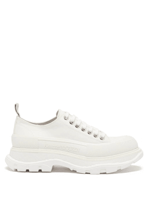 Alexander Mcqueen - Hybrid Slick Chunky-sole Canvas Trainers - Womens - White
