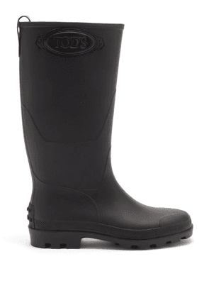 Tod's - Leather And Wellington Boots - Mens - Black