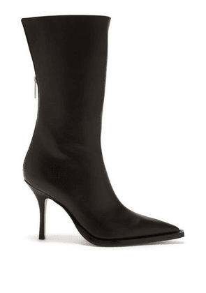 Paris Texas - Dolly Point-toe Leather Boots - Womens - Black