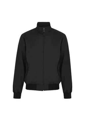 Fred Perry J7320 Black Logo Woven Jacket