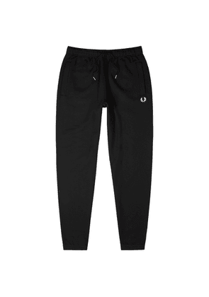 Fred Perry Black Cotton-blend Sweatpants