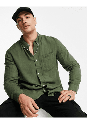 Weekday malcon structured shirt in green
