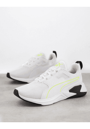 Puma Training Disperse XT trainers in white and yellow