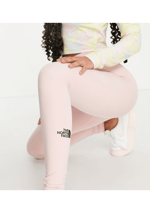 The North Face high waisted leggings in pink Exclusive at ASOS