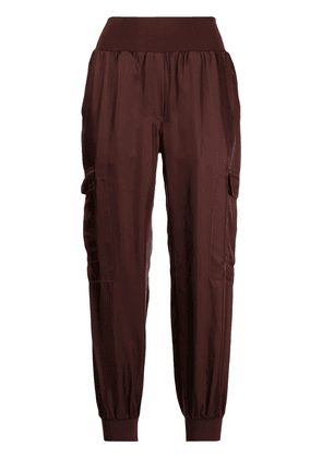 Cinq A Sept high-rise cargo trousers - Red