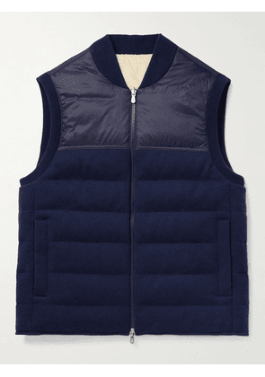 Brunello Cucinelli - Reversible Quilted Nylon and Cashmere Down Gilet - Men - Blue - IT 44