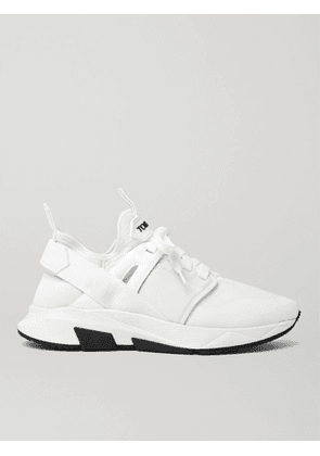 TOM FORD - Jago Neoprene, Suede and Leather Sneakers - Men - White - 6