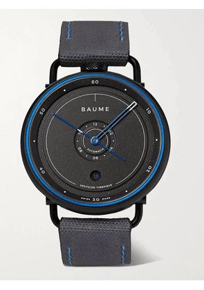 Baume - Ocean Limited Edition Automatic 42mm Plastic, Aluminium and SEAQUAL Canvas Watch, Ref. No. 10587 - Men - Gray