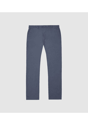 Reiss Pitch Short Leg - Washed Slim Fit Chinos in Airforce Blue, Mens, Size 28S
