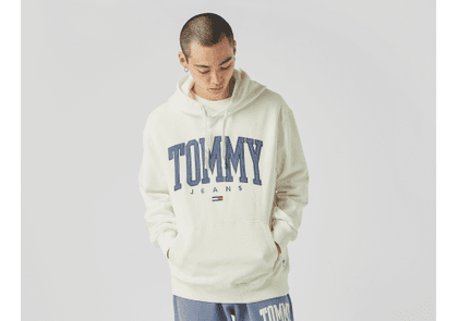 Tommy Jeans College Relaxed Fit Sweatshirt, White