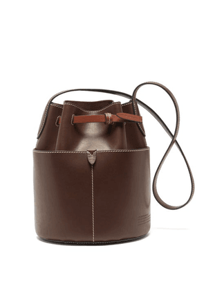 Anya Hindmarch - Return To Nature Small Leather Bucket Bag - Womens - Dark Brown