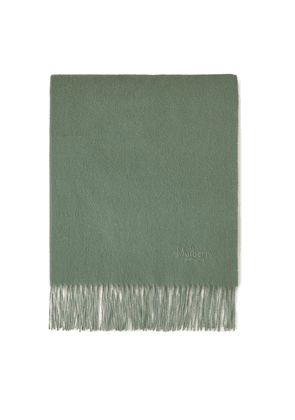 Mulberry Solid Lambswool Scarf - Cambridge Green