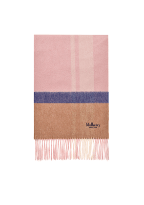 Mulberry Cashmere Blend Scarf - Powder Pink